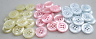 10 PEARL FINISH ROUND BUTTONS 16mm BLUE, PINK, LEMON OR CREAM BABY KNITS
