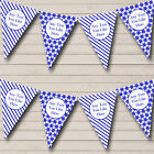 Blue White Stripes Snowflakes Personalised Christmas Decoration Bunting Banner