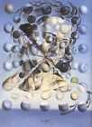 Salvador Dali art girl & planets Glossy Photo print A4 or A5 size