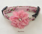 Summer Savor Floral Dog Collar With Bow Size XS-L by Doogie Couture