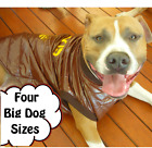 BIG DOG COAT LARGE DOG WARM WINTER COFFEE JACKET LINED WINDPROOF up to 98cm chst