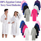 100% LUXURY EGYPTIAN WHITE COTTON TERRY TOWEL TOWELLING BATH ROBE DRESSING GOWN