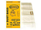 12 gallon shop vac - Shop Vac Vacuum Cleaner Dust Bags 10, 12, 14 Gallon Type 9066200, 770SW, 9066200