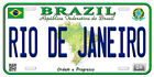 Brazil Aluminum Any Text Personalized Novelty Car Auto License Plate