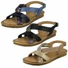 Ladies Black/Navy/Camel Leather Collection Sandals UK Sizes 3 - 8 F00035