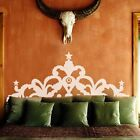 Bed Headboard Crown Wall Decal Modern Apartment Vinyl Home Removable Art Decor