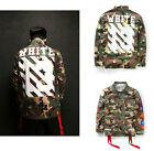 Army Camouflage Military Off White Classic Coat Virgil Abloh Strip Jacket Casual