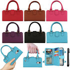 For LG Aristo MS210 LV3 M150 Fortune Purse Satchel Handle Wallet Case Cover +Pen