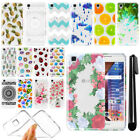 "For LG Tribute HD LS676 X Style 5"" X Skin Slim Soft TPU Clear Case Cover + Pen"