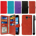 For Kyocera Hydro View C6742/ Reach/ Shore Card Holder Wallet Cover Case + Pen