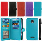 For Motorola Moto Z Droid Edition Card Holder Cash Slot Wallet Cover Case + Pen