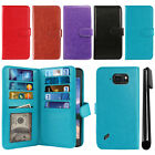 For Samsung Galaxy S6 Active G890 Card Holder Cash Slots Wallet Cover Case + Pen