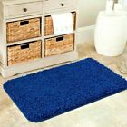 NEW SOFT PLAIN SHAGGY MATS WASHABLE NON SLIP LARGE SMALL BEDROOM RUGS RUNNERS UK