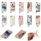 For iPhone 5 6s 7 plus Lovely Relief Pattern Soft TPU Back Case Women Men Case