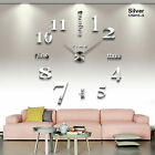 3D Mirror Wall Clock Wall Art Home Decorations Surface DIY Sticker Big Watch E9