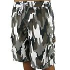 Mens Camouflage Boardies NEW Army Print Board Shorts Microfiber Size 32 34 42 44