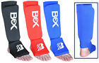 BEX Shin Instep Pads MMA Foot Leg Guard Thai Muay Kick Boxing Protector Gym Gear