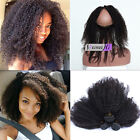 Pre Plucked 360 Lace Frontal 8A Afro Kinky Curly With 3 Bundles 100% Human Hair