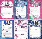 20 Special Birthday Party Invitation Sheets Choice of Designs inc Envelopes