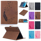 Luxury Feather Pattern PU Leather Folio Stand Case Cover For iPad 2 3 4 Pro 9.7""