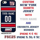 Custom NEW YORK GIANTS Phone Case Cover w Your Name & Jersey Number IPhone htc
