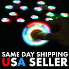 WHOLESALE Bulk Lot LED Fidget Hand Spinner Light UP Finger Game Kids Fun Toy