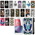 "For Motorola Moto G4/ G4 Plus 5.5"" XT1625 Butterfly HARD Back Case Cover + Pen"