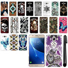 For Samsung Galaxy J7 J710 2nd Gen Butterfly Design HARD Back Case Cover + Pen