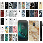 "For Motorola Moto G4 Play 5"" XT1607 XT1609 Marble HARD Back Case Cover + Pen"