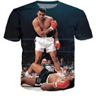 """Never Give Up"" Muhammad Ali Crewneck Hip-Hop Tee"