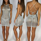 Womens Bandage Bodycon Sleeveless Evening Party Cocktail Club Short Mini Dress #