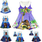 Kids Toddlers Girls Fancy Princess Dress Moana Printing Cosplay Costume3-9Y 2017