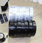 Внешний вид - 500Pcs(1rolls) Printed Satin Ribbon Size Labels For Garment Clothing Label Tags