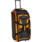 "Travelers Club Luggage 30"" Multi-Pocket Upright Rolling Rolling Duffel NEW"