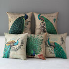 "17"" Peacock Home Decorative Cotton Linen Pillow Case Cushion Cover Pillow Case"