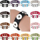 14 colors PU snap button bracelet fit 18mm chunk armband jewelry