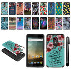 For ZTE N817 Quest Uhura Hybrid Bumper Protective Hard TPU Case Cover + Pen