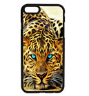 Big Cats Tiger Art Blue Eyes Rubber Hard Phone Case for iPhone Samsung D47