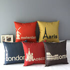 "17"" Capital City Symbol Emblem Home Sofa Decor Throw Pillow Case Cushion Cover"