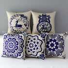 "17"" Ethnic Floral Classical China Art Home Sofa Decor Pillow Case Cushion Cover"