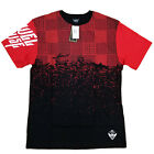 NWT MEN AUTHENTIC JEWEL HOUSE Red and Black Patch Tee Shirt olive jh1541122