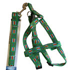 Harness with Leash Set Adjustable Size Easy tension for small to Medium Dogs Pet