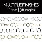 Solid Brass Large Round Wire Geometric Lighting Chain #41L   (1 yard or 3 ft)