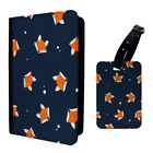 Foxes Spots Animal Pattern Luggage Tag & Passport Holder - S973