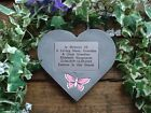 Personalised Butterfly Memorial Stone Heart / Grave Marker for Garden / Cemetery
