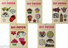 Collectable Stick On Patches Decorate Stationery Students Cupcakes Cool Peace