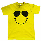 Smiley Face Sunglasses, DJ Festival Mens Funny T Shirt