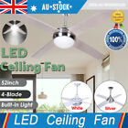 52inch Ceiling Fan Light With Remote for Indoor Living Room NEW