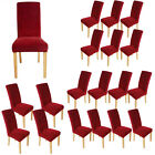 Super Fit Stretch Dining Chair Covers Slipcover Seat Protector Removable Wine UK