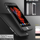 For Apple iPhone 6 6S 7 / 7 Plus Case Ultra Thin Slim Hard Cover+ Tempered Glass